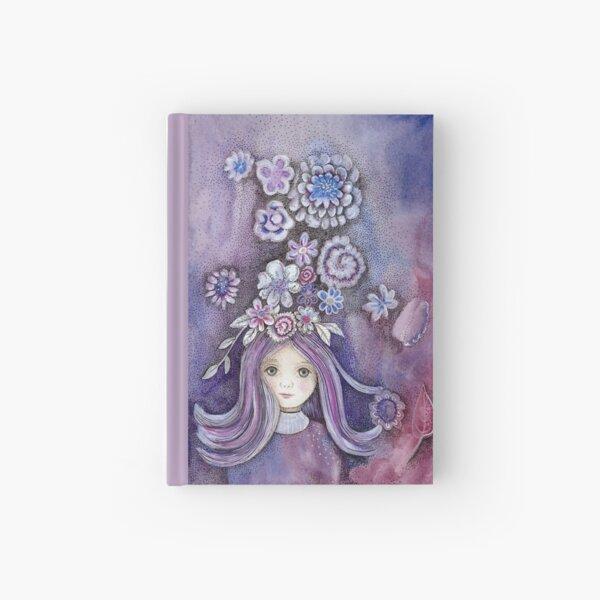 purple flower girl  Hardcover Journal