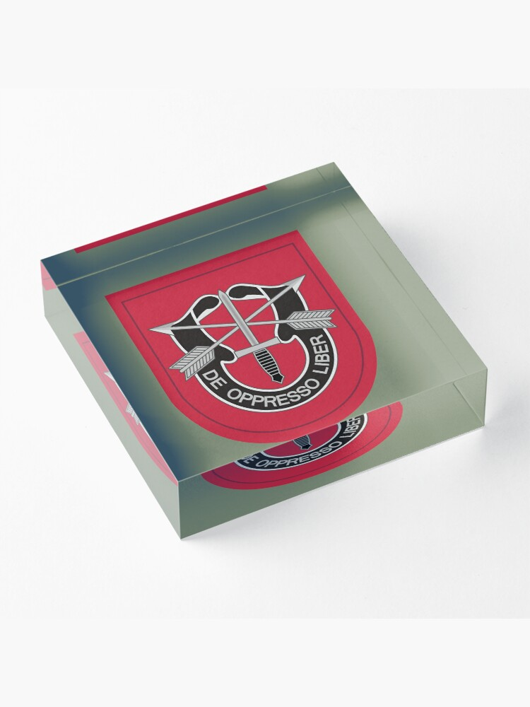 Alternate view of 7th Special Forces Group (United States) Acrylic Block