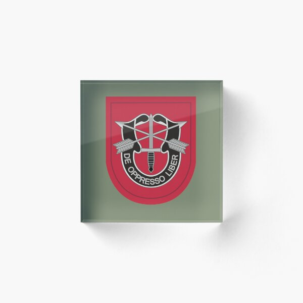 7th Special Forces Group (United States) Acrylic Block