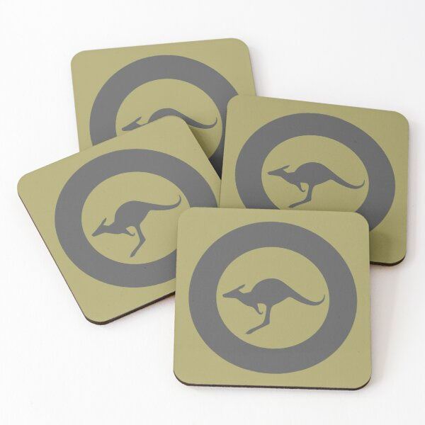 Royal Australian Air Force - Roundel low visibility Coasters (Set of 4)