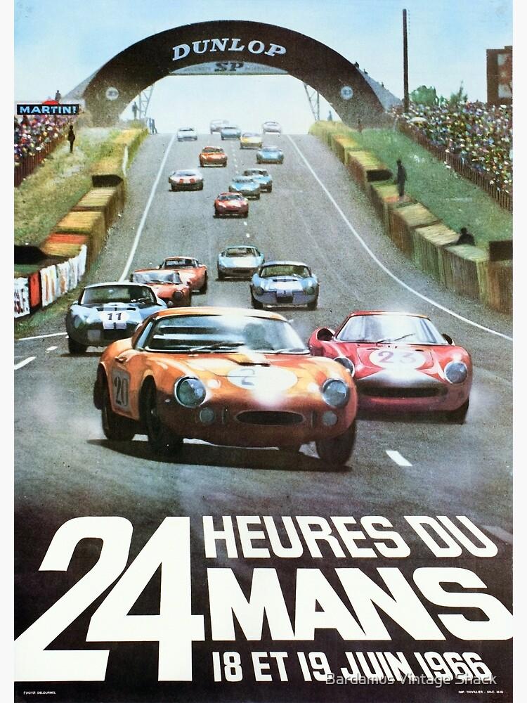 Porsche  24 Hours of Le Mans Art Canvas Racing Car Poster France German Print