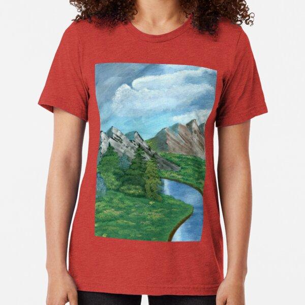 Mountain Scape  Tri-blend T-Shirt