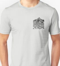 The Giants Causeway, Ireland. Ink Illustration Unisex T-Shirt