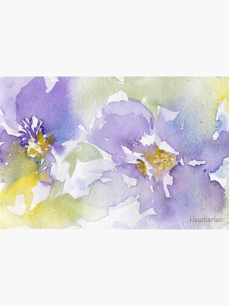 Watercolour Flowers Nr 153 by Heatherian