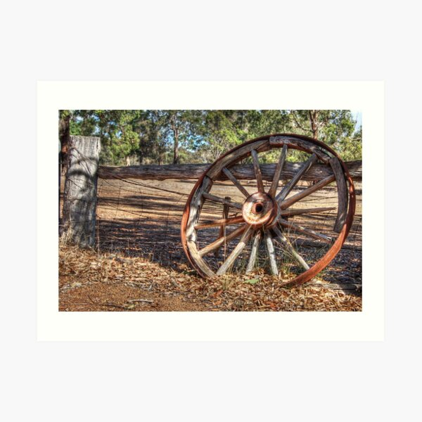 Wagon Wheel In Colour Art Print