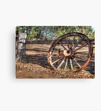 Wagon Wheel In Colour Canvas Print