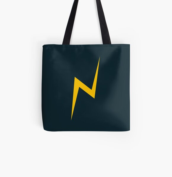 Lightning bolt (yellow) All Over Print Tote Bag