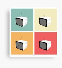 Retro TV Canvas Print