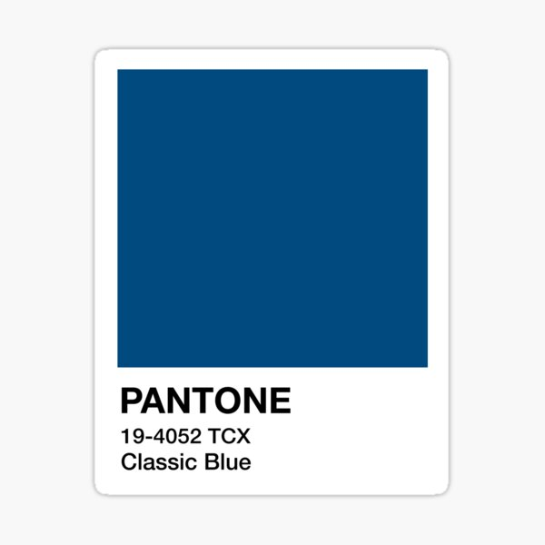 Classic blue Sticker