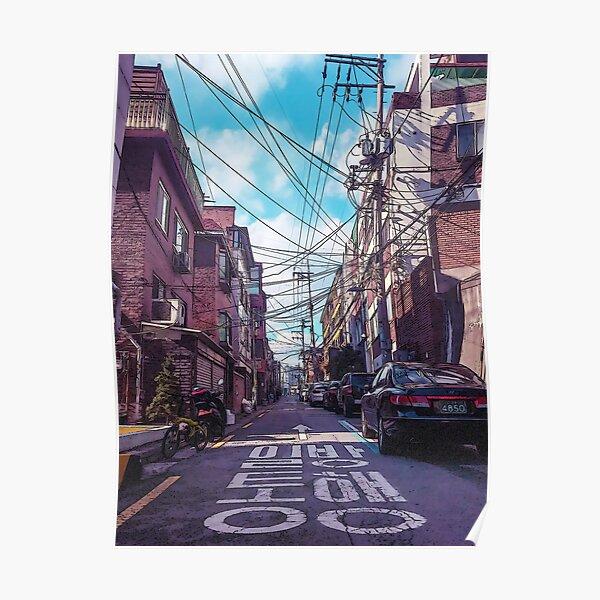 Quartier de Séoul Poster