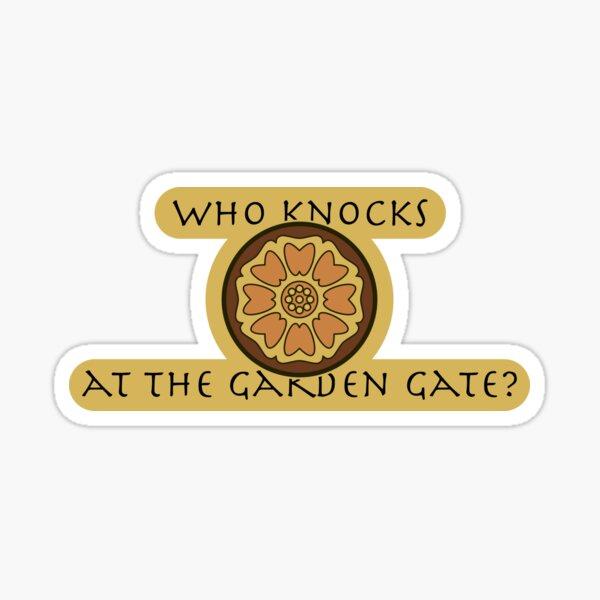 Who Knocks At The Garden Gate? (White Lotus) Sticker