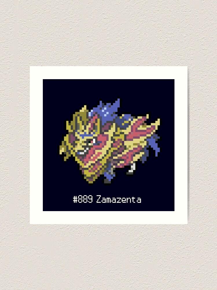 Impression Artistique Zamazenta Pixel Art Dex Epee Monstre Legendaire Par Azvonnord Redbubble