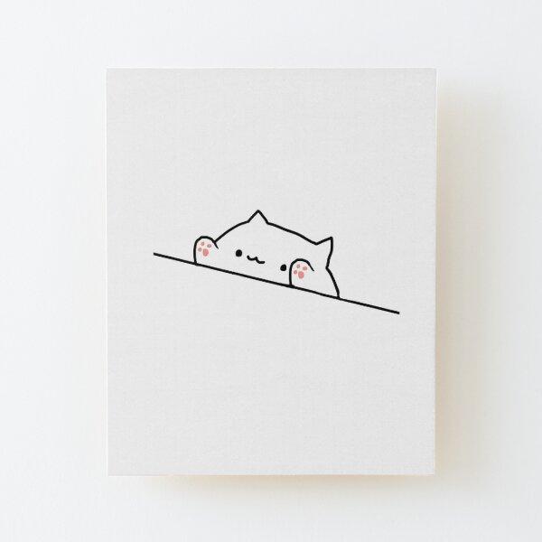 Bongo Cat Wood Mounted Print