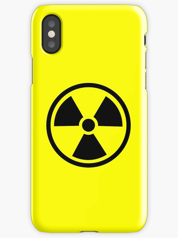 Radioactive Ionizing Radiation Hazard Symbol Iphone Cases
