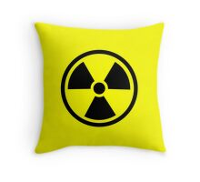 Radioactive - ionizing radiation hazard symbol Throw Pillow
