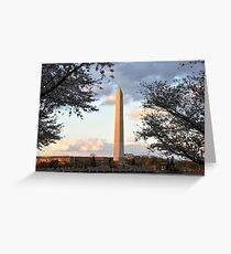 washington monument in april Greeting Card