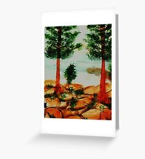 Looking from Balcony onto Lake Tahoe #2, Series, watercolor Greeting Card