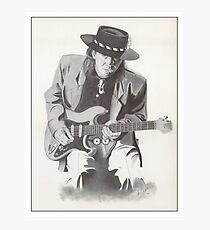 Stevie Ray Vaughan Portrait Photographic Print