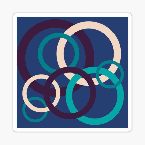 Blue Circles Sticker