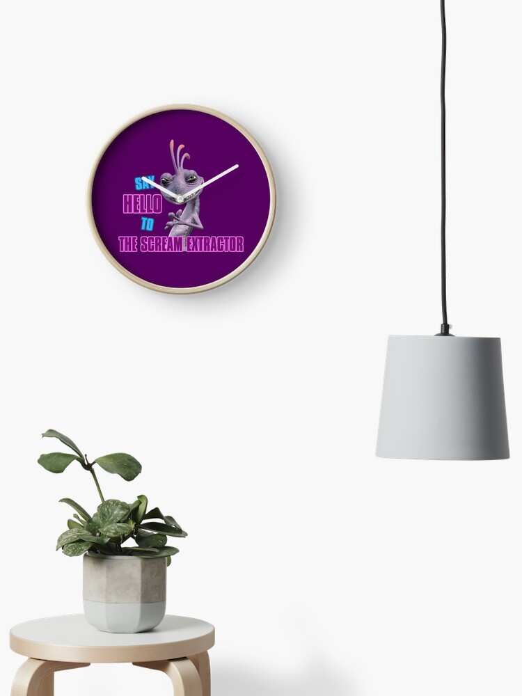 Randall From Monsters Inc Clock By Normanlikescats Redbubble
