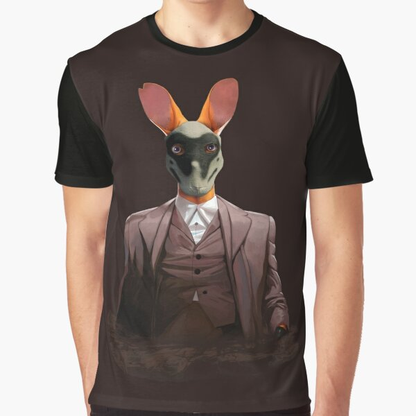 Roo with Rorschach Mask Graphic T-Shirt