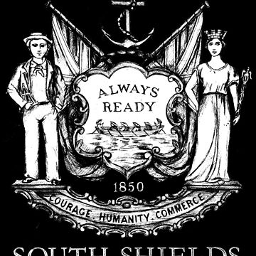 South Shields Coat of Arms White by miners