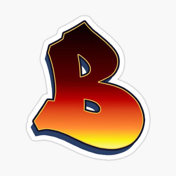 B - Flame Sticker