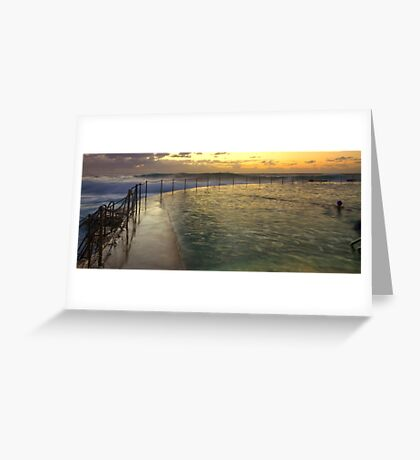 Autumn Swim - Bronte Baths Greeting Card