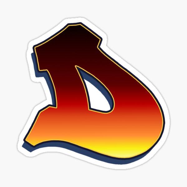 D - Flame Sticker