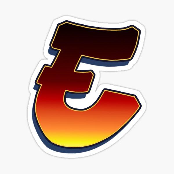 E - Flame Sticker