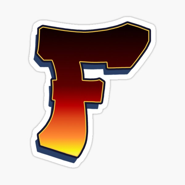 F - Flame Sticker