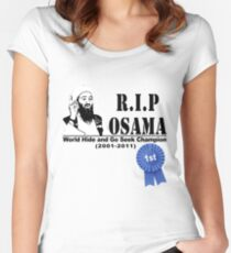 RIP OSAMA Women's Fitted Scoop T-Shirt