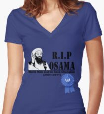 RIP OSAMA Women's Fitted V-Neck T-Shirt