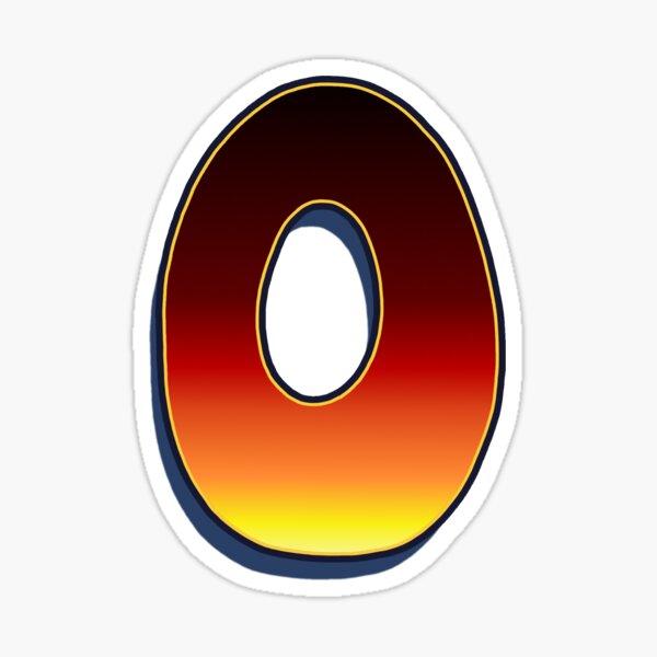 O - Flame Sticker