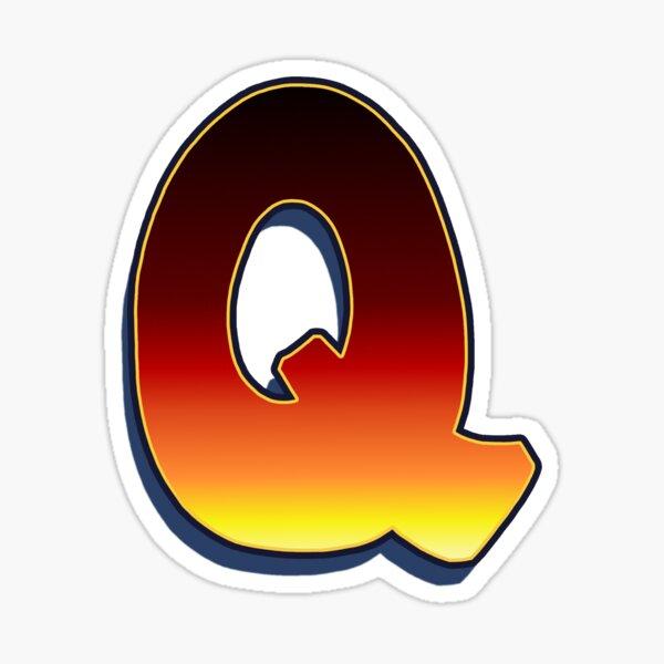 Q - Flame Sticker