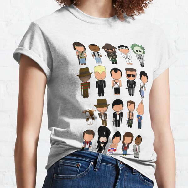 "1980s Classic Movie Icons - ""Vector-Eds"" Classic T-Shirt"