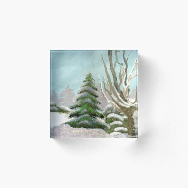 Winter Flurry Acrylic Block