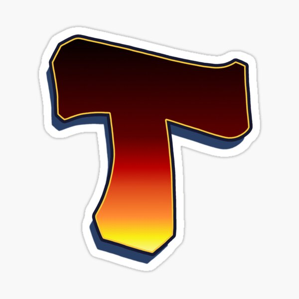 T - Flame Sticker
