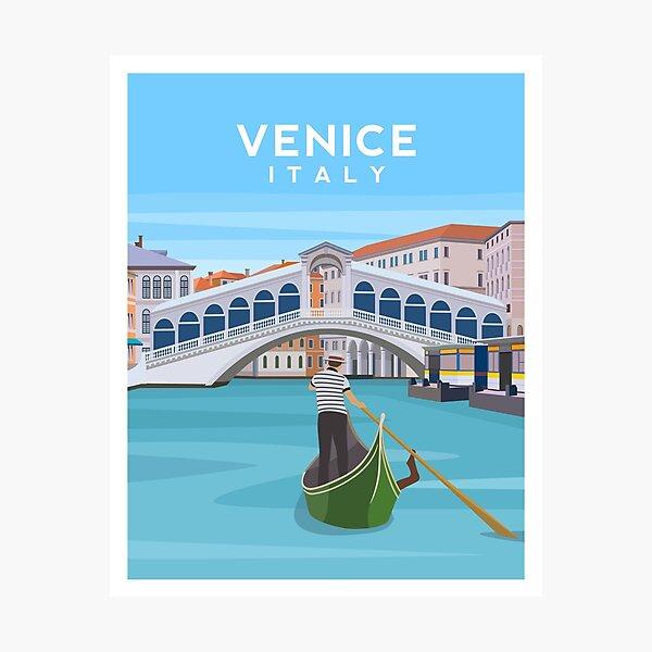 Venice, Italy - Rialto Bridge and The Grand Canal Photographic Print