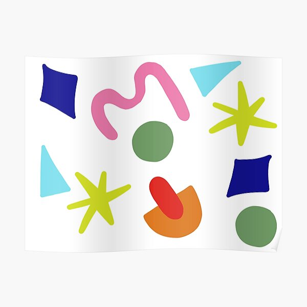 Colorful Abstract Shapes Poster