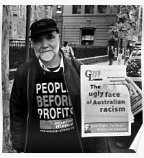 Racisms Ugly Face Poster