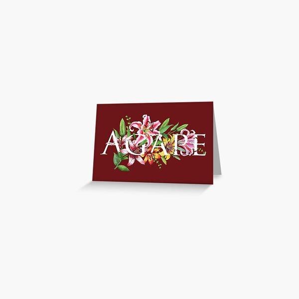 AGAPE (MAROON FLORAL) Greeting Card