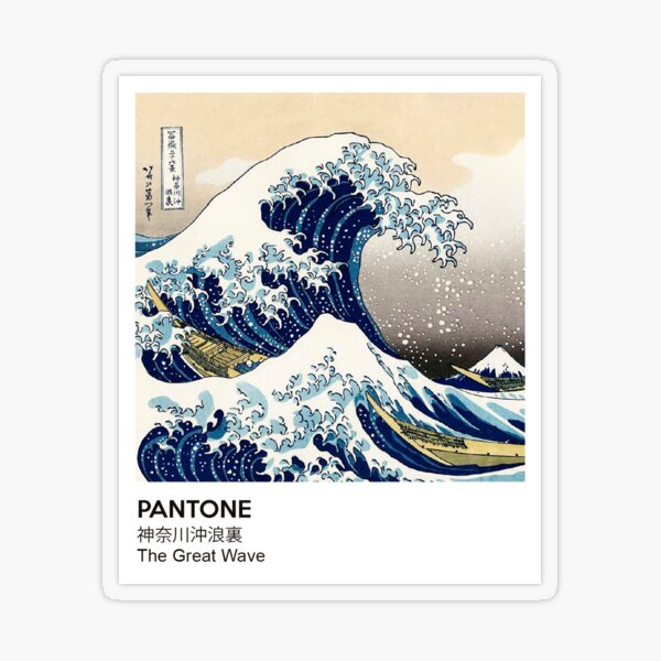 Die große Welle PANTONE Transparenter Sticker