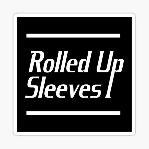 Rolled Up Sleeves Logo Sticker Sticker