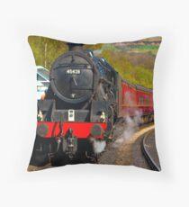 At The Platform - Grosmont Throw Pillow