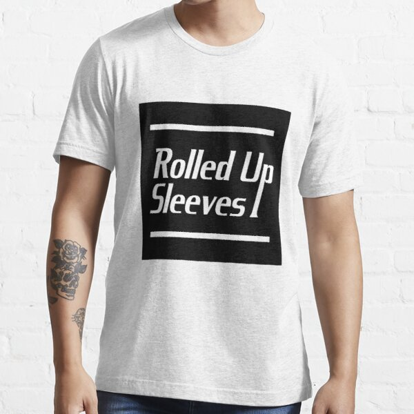 Rolled Up Sleeves Logo with Black Square Background Essential T-Shirt