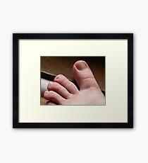 Lámina enmarcada Foto de mi pie