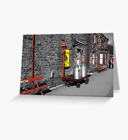 Goathland Station Platform  (SC) Greeting Card