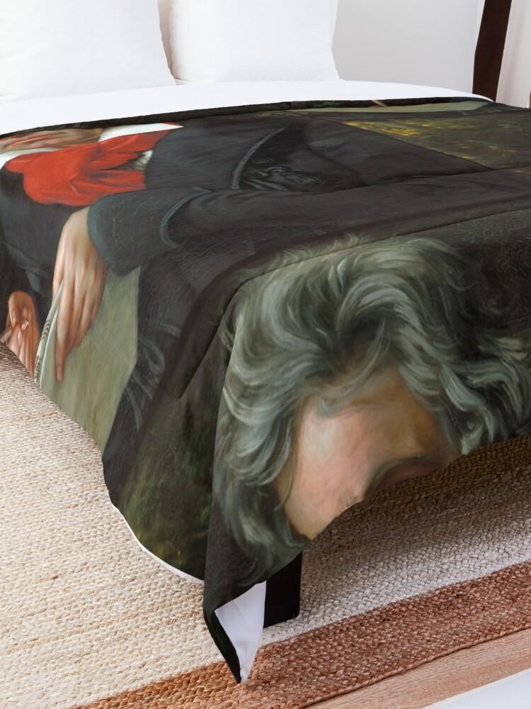Alternate view of Beethoven Portrait, 1819 Comforter