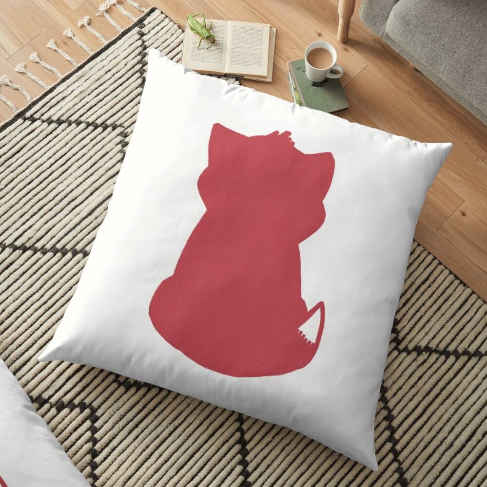 Red Cat and Friends Floor Pillow